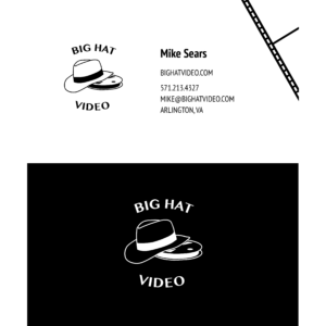Big Hat Videos Business Cards
