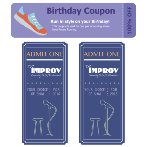Running and Comedy Tickets